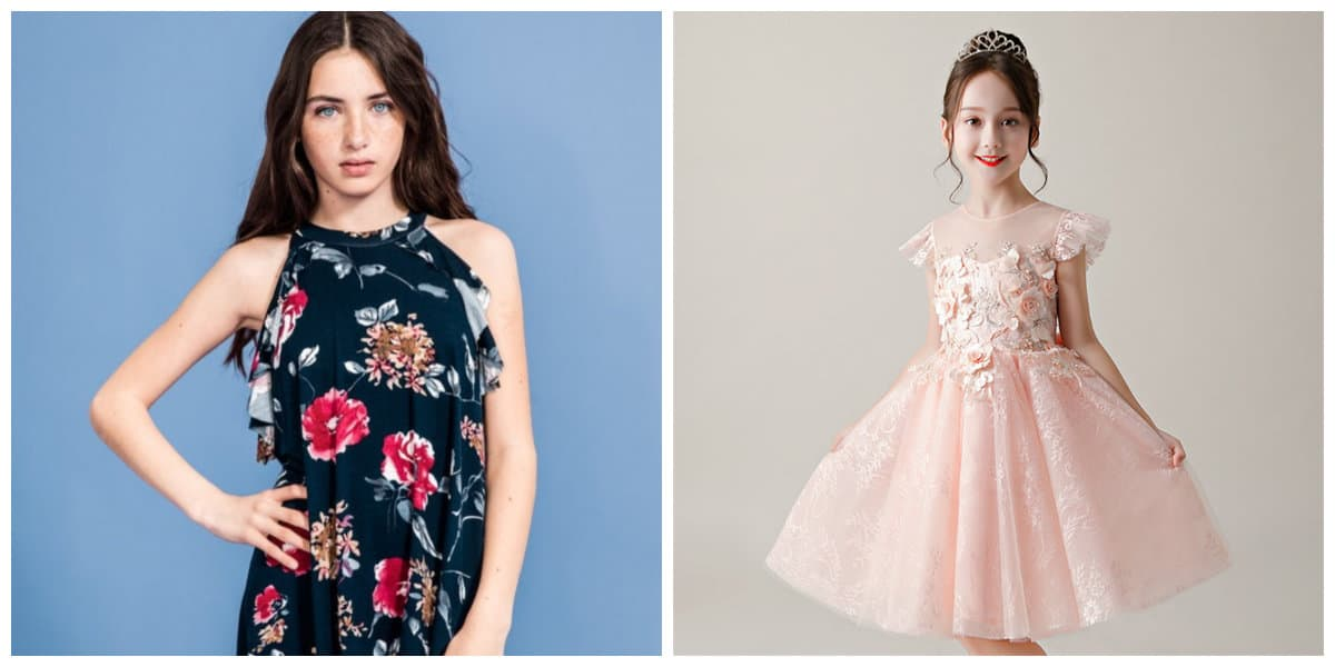 outfits for girls 2019, girls clothes 2019, floral dress for girls, pink dress for girls