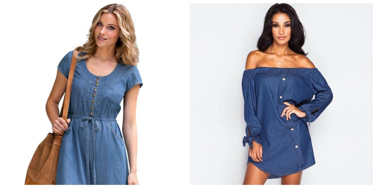 plus size dresses 2019, plus size formal dresses 2019, plus size denim dress 2019, denim plus size sundress, denim plus size dress with open shoulders