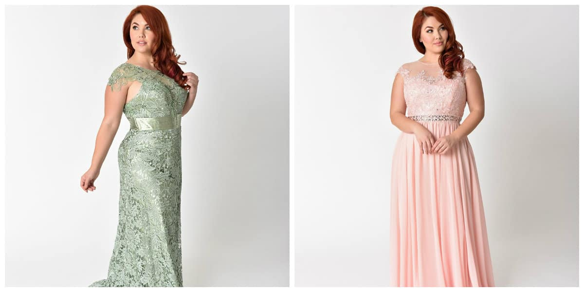 plus size prom dresses 2019, plus size chiffon dress, plus size lace dress