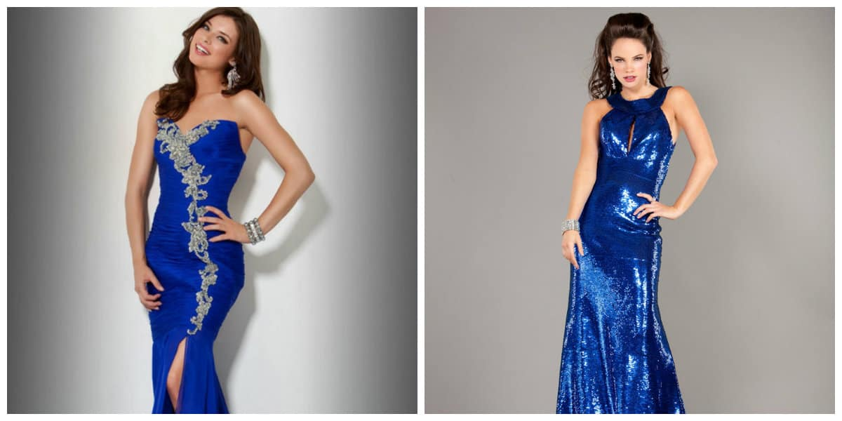prom dresses 2019, trendy blue prom dresses 2019