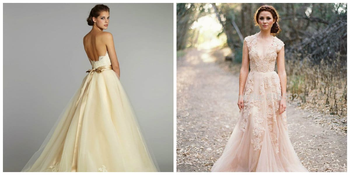 wedding dresses 2019, cream wedding dresses 2019, boho wedding dress 2019