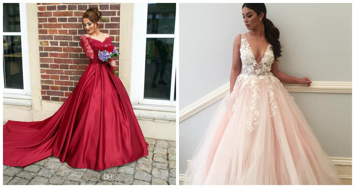 wedding dresses 2019, red wedding dress 2019, pink wedding dress 2019