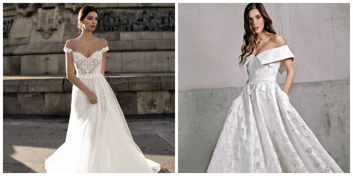 wedding dresses 2019, wedding dress 2019 with open shoulders