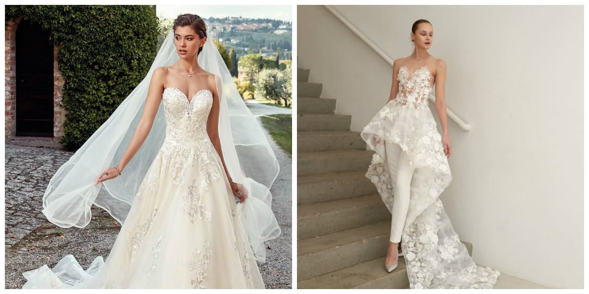 wedding dresses 2019, stylish trends from fashion runways 2019