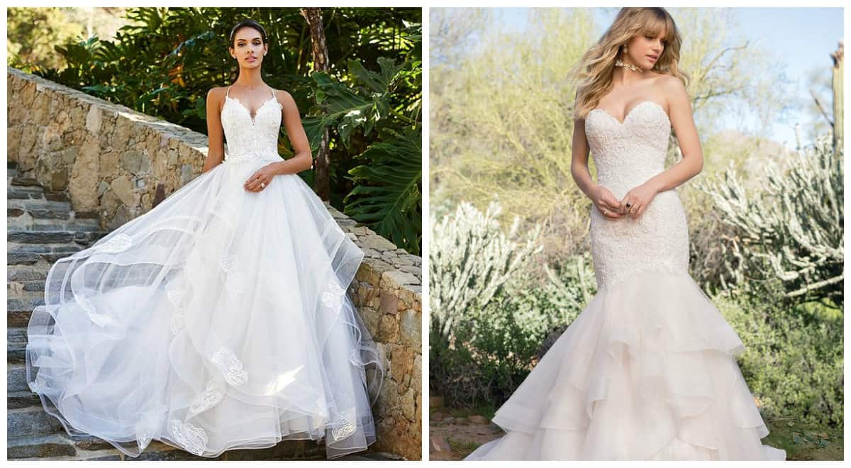 wedding dresses 2019, wedding dress 2019 with cascade skirt