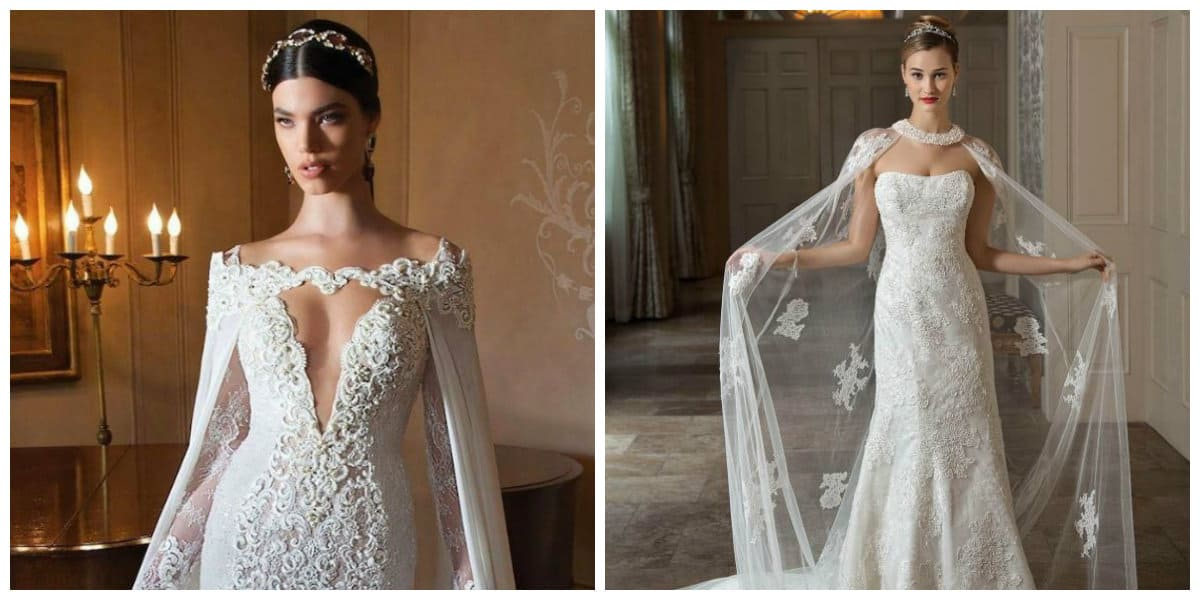 wedding dresses 2019, wedding dresses 2019 with mantle