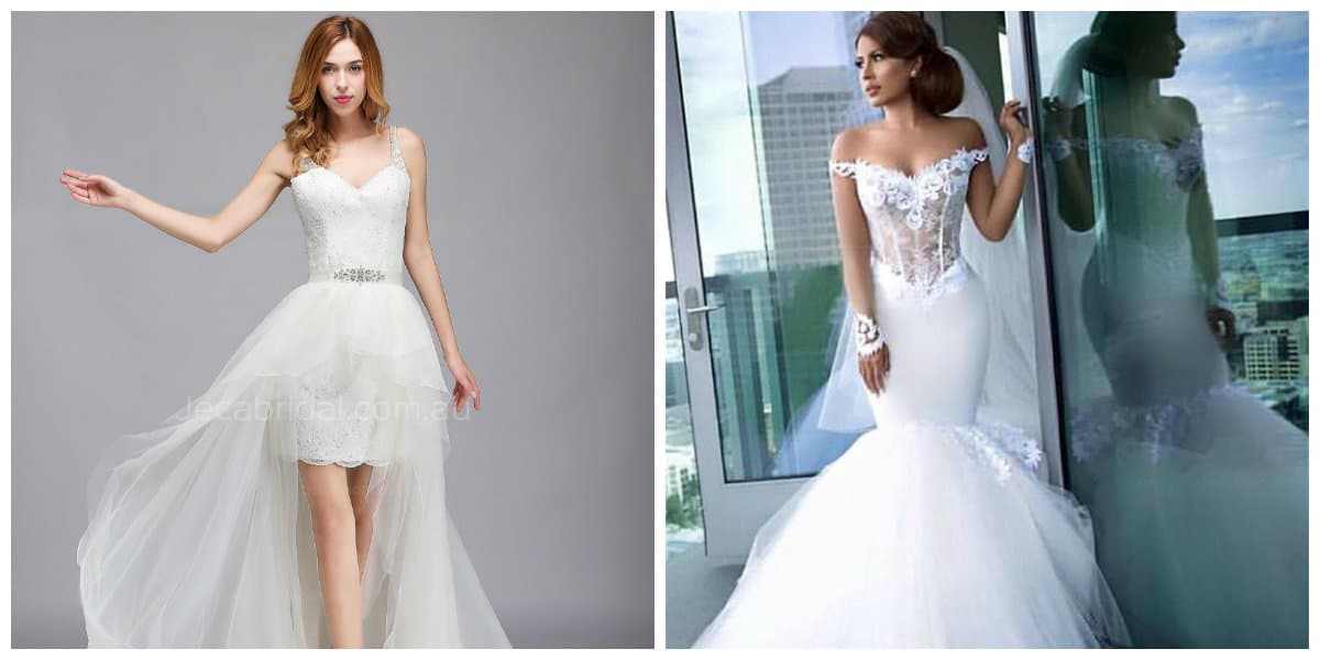 wedding gowns 2019, wedding short dresses, wedding mermaid dresses