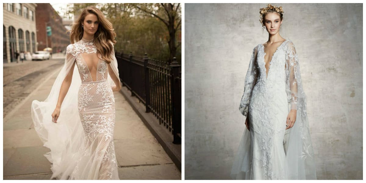 wedding gowns 2019, wedding dresses 2019 with capes