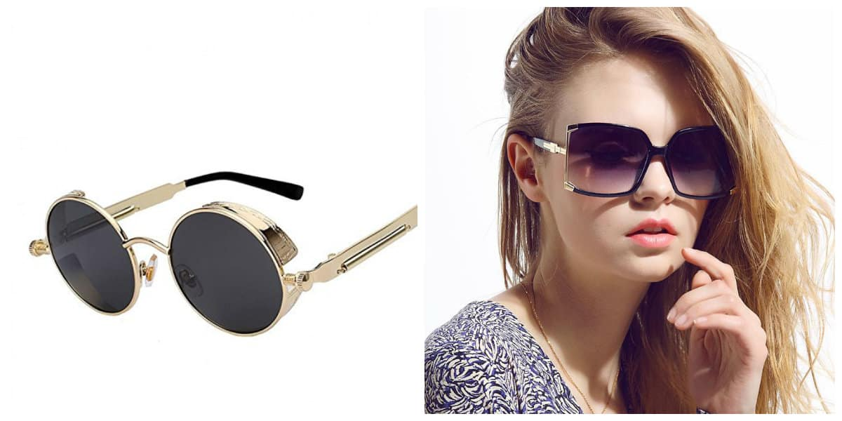women sunglasses 2019, sunglasses for women 2019, goggle sunglasses, round steampunk sunglasses