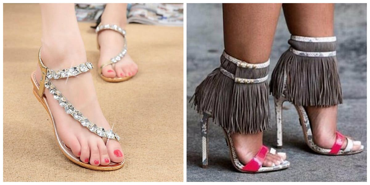 womens summer shoes 2019, summer shoes with rhinestones, summer shoes with fringe