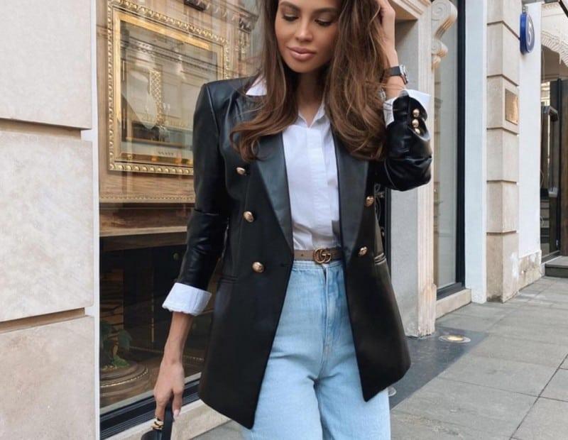 Blazers for Women 2022: Leather Blazer