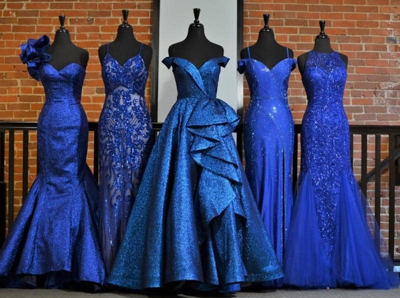 Shimmering Lurex in Evening Gowns 2022