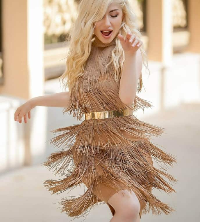 Evening Gown Trends 2022: Fringed Outfit